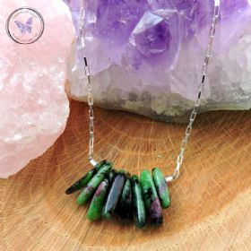 Anyolite - Ruby Zoisite - Healing Bar Necklace